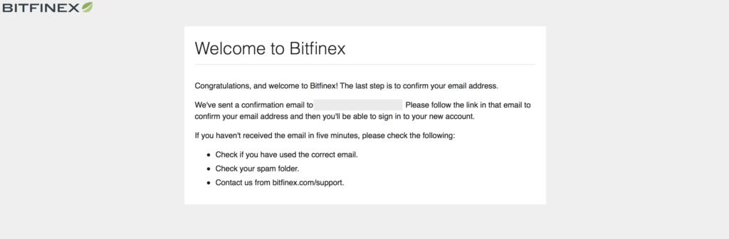 Bitfinex(ビットフィネックス)の登録方法・口座開設方法4