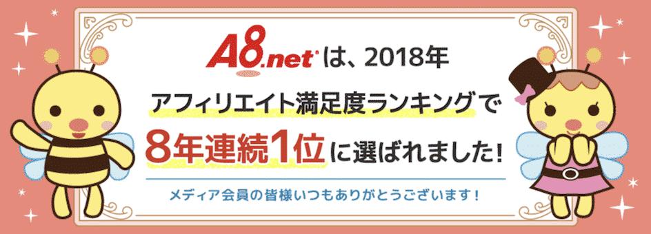 A8.net(エーハチネット)|業界No.1のアフィリエイトASP